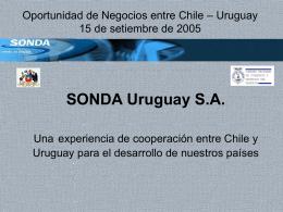 SONDA Una Experiencia de Cooperación Entre Chile y Uruguay