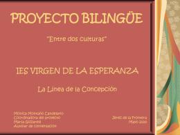 """PROYECTO BILINGÜE """"Entre dos culturas"""""""