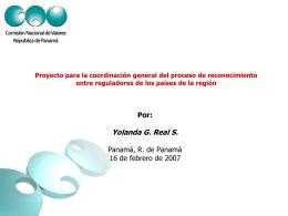 Proyecto para la coordinación general del proceso de