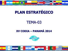 Plan estratégico de la CODIA
