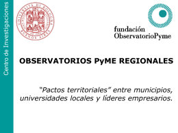 OBSERVATORIOS PyME REGIONALES