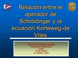 Relación entre la ecuación de Schrödinger y la ecuación