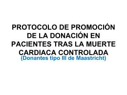Protocolo de la donación en pacientes tras la muerte cardiaca