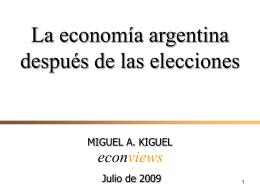 Presentación Miguel Kiguel