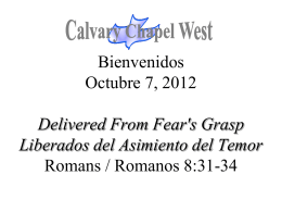 Romanos 8:31 - Calvary Chapel West