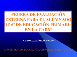 prueba de evaluación externa para el alumnado de 6º de educación
