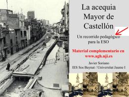 La acequia Mayor de Castellón