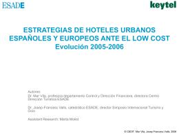 Estrategias de hoteles urbanos españoles y europeos ante