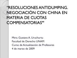 Eliminación de las Cuotas Compensatorias contra China ¿qué sigue?