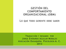 Administración y gestión del comportamiento