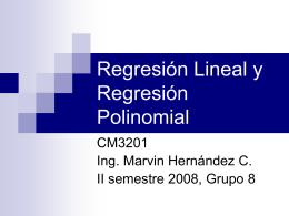 Regresión Lineal y Regresión Polinomial