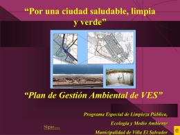 Plan de Gestión Ambiental - Municipalidad de Villa El Salvador