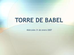 Babel, más allá que una simple torre