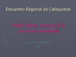 Encuentro Catequistas Región Litoral 2007