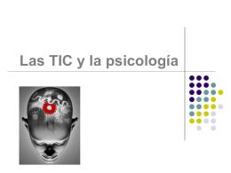 Las TIC y la psicología