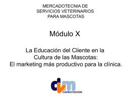 la educación - DVM : Mercadotecnia Veterinaria
