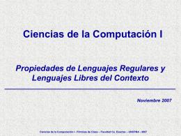 Presentación de PowerPoint - Facultad de Ciencias Exactas