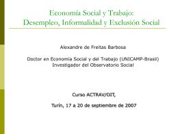 Desempleo, Informalidad y Exclusión Social