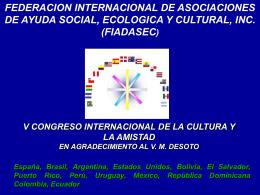 Presentación V CONGRESO INTERNACIONAL DE LA