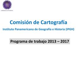 IPGH Programa de trabajo 2013 – 2017
