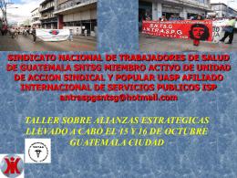 SNTSG Guatemala - Ulandssekretariatet