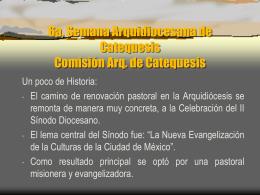 Memoria de las Semanas Arquidiocesanas
