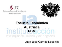 Curso UPC: Escuela Económica Austriaca - Intro