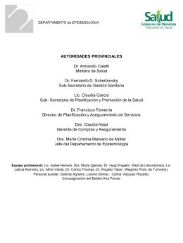 Diapositiva 1 - InfoSalud Mendoza