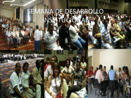 SEMANA DE DESARROLLO INSTITUCIONAL