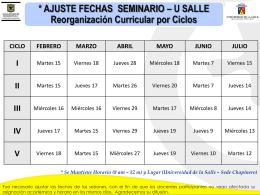 SEMANA DE PLANEACION INSTITUCIONAL