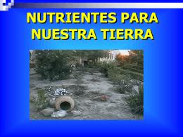 NUTRIENTES DE NUESTRA TIERRA