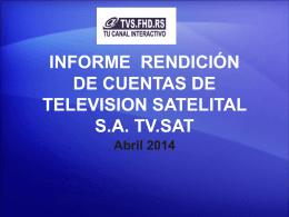 informede rendición de cuentas de television satelital sa tv