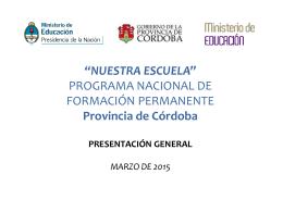 Presentación Programa Nacional Formación