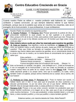 113 RETENIENDO NUESTRA PROFESIION