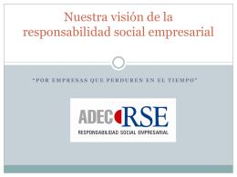 Nuestra visión de la responsabilidad social empresarial