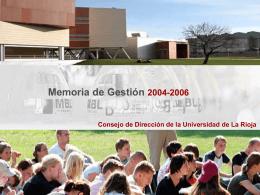 Memoria de Gestión 2004-2006