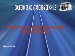Certificación Primera Reunión - Colegio de Contadores de Chile
