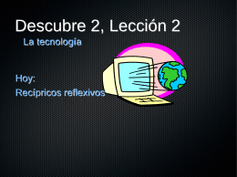 Descubre 2, Lección 2