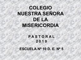 pastoral2010 - Colegio Nuestra Señora de la Misericordia
