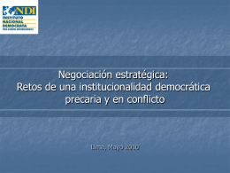 Negociación Estratégica - Red de Partidos Políticos
