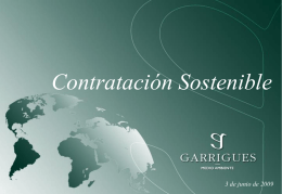 Incorporación de criterios de sostenibilidad en nuestra contratación