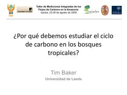 1a. ¿Por qué debemos estudiar el ciclo de carbono en los bosques