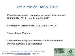 Instructivo de actualización/instalación