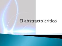 El abstracto crítico