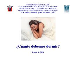 Presentación: ¿Cuánto debemos dormir?
