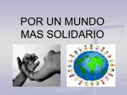 Por un mundo más solidario