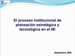 Proceso Institucional de Planeación Estratégica