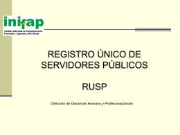 Registro Unico de Servidores SFP