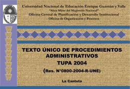 texto único de procedimientos administrativos 2004