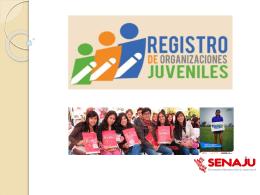 Diapositiva 1 - Secretaría Nacional de la Juventud